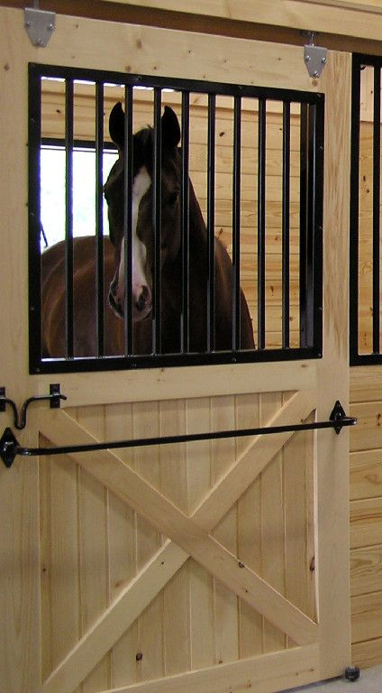 Love this stall idea. I'd like to put a halter rack on there as well as a name plate and white board :)