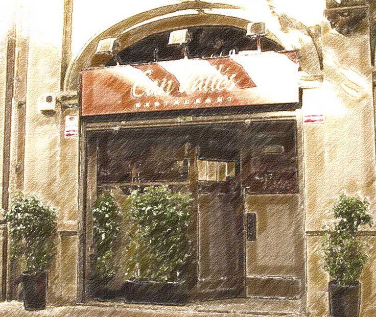 """Restaurante Can Valles. C/ d'Aragó, 95, 08015 Barcelona - Teléfono: 932 26 06 67 Máxima calidad, todo exquisito! Recomiendo: Tartare de atún rojo cortado tipo tagliatelle, canelón de peus de porc, los tres carpaccios (el de ciervo con trufa y foie, el de gambas y ceps, y el de reno ahumado), las gambas también impresionantes.  De los postres, el tocinillo realmente """"celestial"""". El personal muy profesional y amable. Local con imagen antigua."""