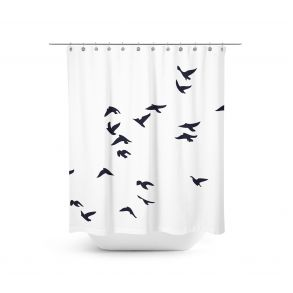 Small birds - Shower curtain. Let these beautiful black birds fly away in your bathroom.