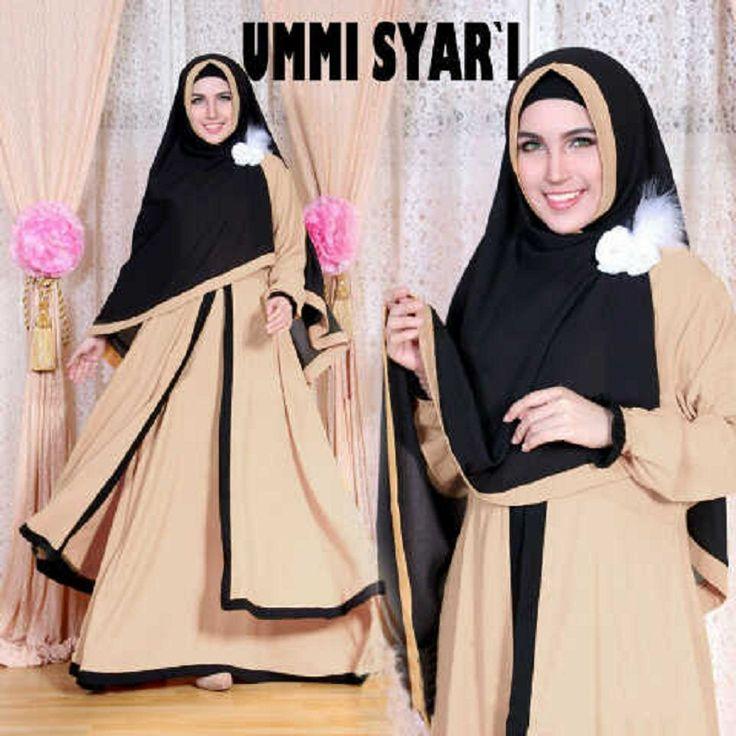Gamis Syar'i Modern UMMI SYARI MOCCA - http://warongmuslim.com/gamis-syari/gamis-syari-modern-ummi-syari-mocca/