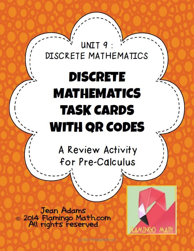 This activity is designed to help your Pre-Calculus students evaluate sequences and series in an end-unit review for Discrete Mathematics. There are 24 task cards in the activity. Students will find recursive and explicit forms of sequences, find the sum finiite and infinite series, determine convergent and divergent series, find nth terms, partial sums, P(K+1) term for induction proofs, and more.