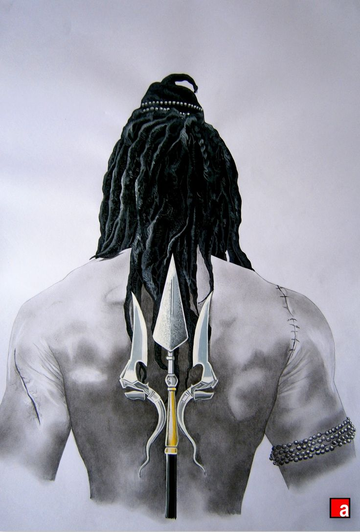 "Lord || Shiva || from the novel ""The Immortals of Meluha"". A pencil art done by me!"