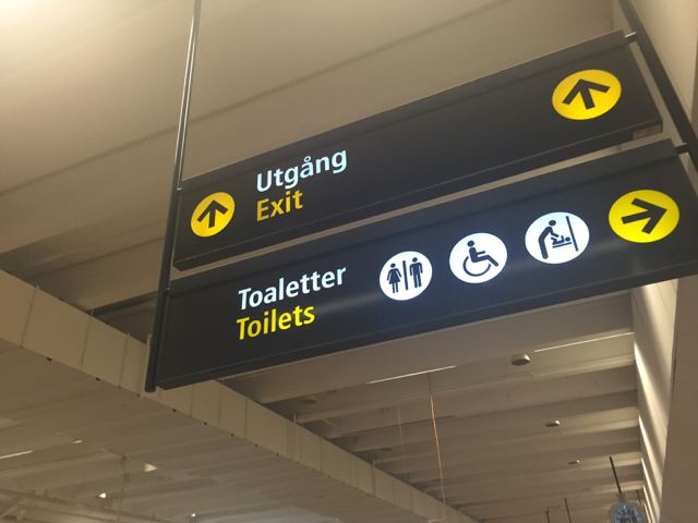 Stockholm Arlanda Airport terminal sign #azamaravoyages #LoveTravel #cruise