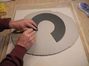 templatebowl03 - Ceramics Daily Using templates for uniform handbuilt bowls