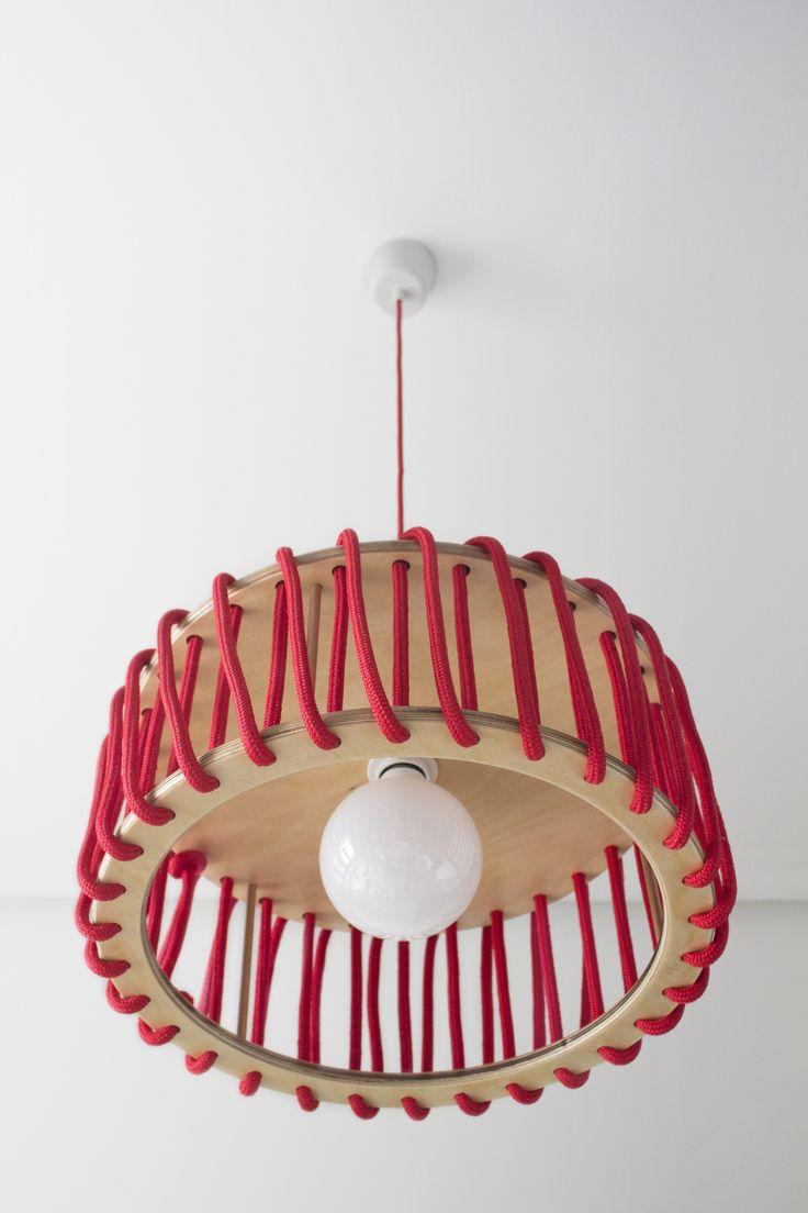 Lámpara colgante de cuerda MACARON by EMKO UAB diseño Silivia Ceñal