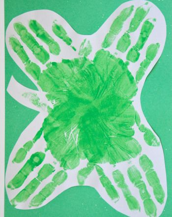 Activities: Four-Leaf Clover Picture..   HAND PRINT BIRTHDAY  CARD..WRITE MASSAGE ALSO ...