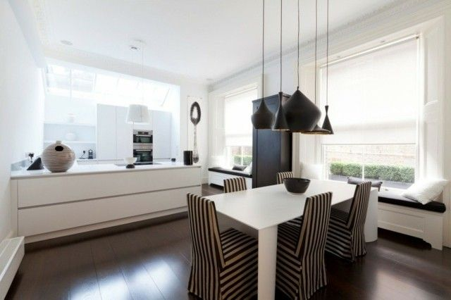 appartement minimaliste coin-repas suspensions