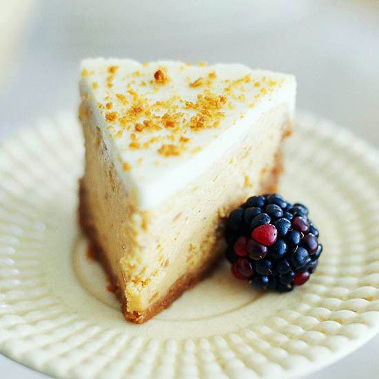 Our decadent Sweet Potato Cheesecake has a buttery gingersnap crust. More fall