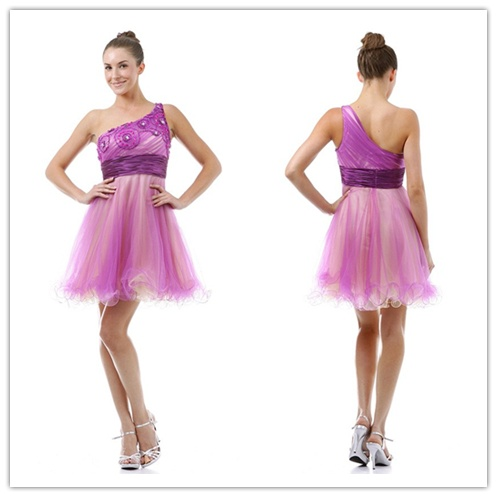 Homecoming Dresses.Find it here ...  http://www.honeydress.com/b/A-line-One-Shoulder-Organza-Short-Mini-Homecoming-Dresses-05716.html ...