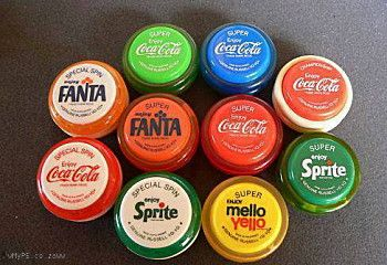 "A complete collection of Yo-yo's issued by Coca-Cola in 1965. Could never master ""Walking The Dog""."