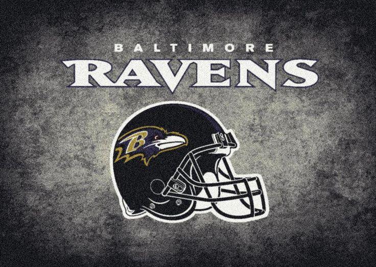 Distressed Baltimore Ravens Logo Area Rug
