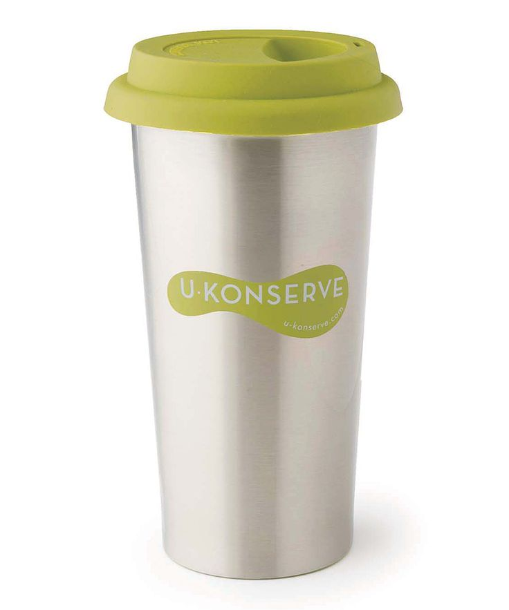 16-Oz. Lime Stainless Steel Insulated Coffee Cup