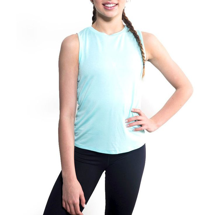 Miss Behave Girls Tina Workout Tank in Mint