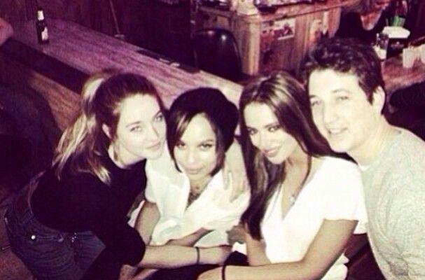 Shailene Woodley, Zoë Kravitz, Keleigh (Miles Teller's girlfriend) and Miles Teller