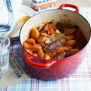 'Delicious' Sausage Casserole. I found an alternative to vegetable stock cooking this tonight...1 tablespoon of Soy Sauce for every cup of water you use.
