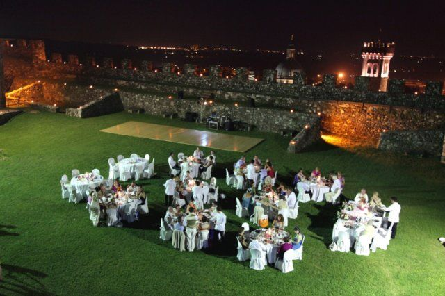 Dinner under the stars within the old castle walls is always magic.