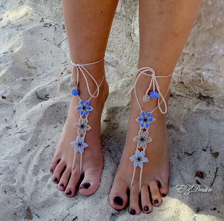 Barefoot sandals lace crochet.Jewelery crochet for beach holiday.Boho style jewelry.Anklets multicolor crochet.Multicolor crochet jewelry.