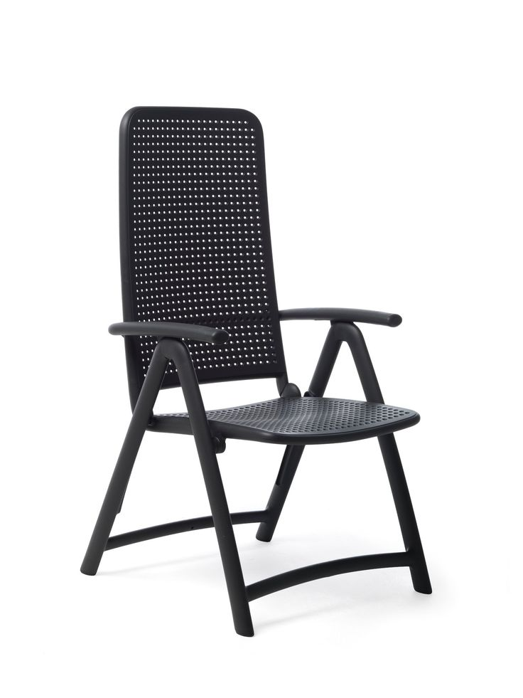 Darsena Outdoor Folding Patio Chair - Anthracite