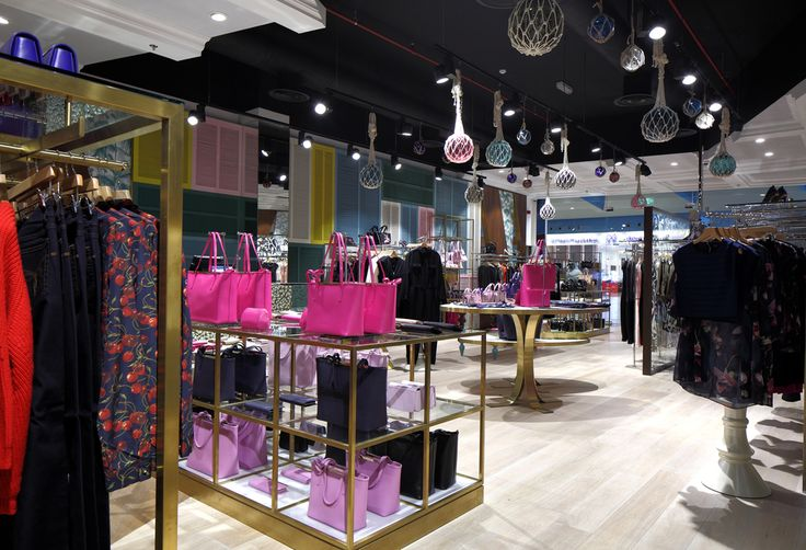 Glass and macrame pendants for the Ted Baker store in Saudi Arabia, by Rothschild & Bickers