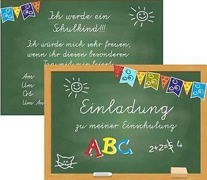 8-Einladungskarten-Schulanfang-Einschulung-1-Schultag-Einladung-Tafel