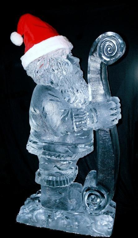 Santa Ice Sculpture