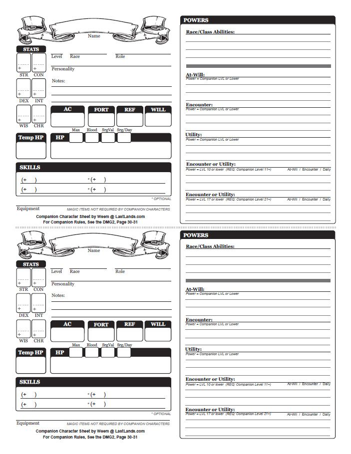 dungeons and dragons character sheet Third edition (35) dungeons and dragons character generator version -- 51  this character generator is is used by turn watcher.