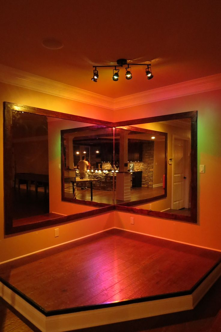 Basement stage with a curtain and more rounded karaoke for Karaoke room design ideas