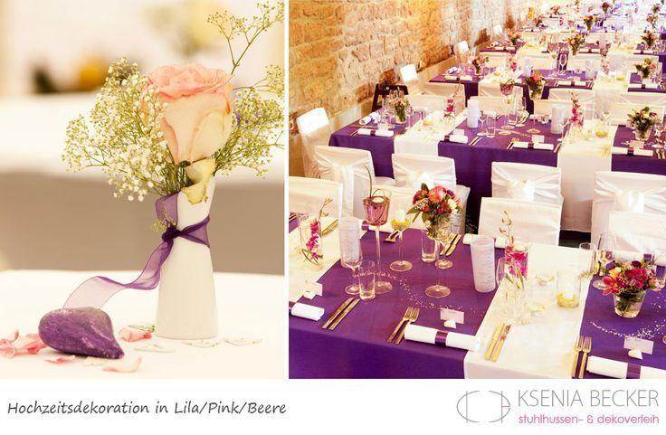 beere pink lila hochzeitsdekoration tischdekoration mit rosen pfingstrosen chrysanthemen orchideen nelken freesien
