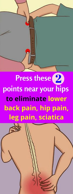 Press these 2 points near your hips to eliminate lower back pain, hip pain, leg pain, sciatica - Workout Hit