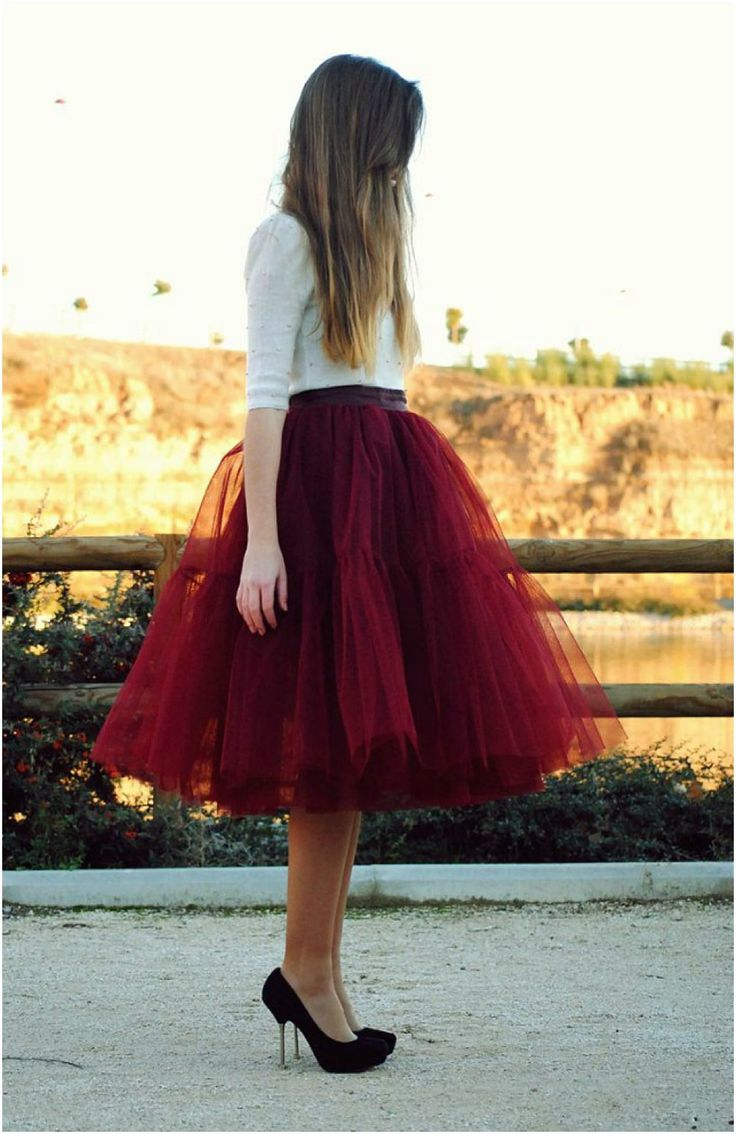 Pantone Colour of the Year 2015: Marsala Model wearing Marsala coloured tulle skirt. http://www.pierrecarr.com/blog/2015/01/pantone-colour-year-2015-marsala/ #Pantonecolouroftheyear2015 #Marsala