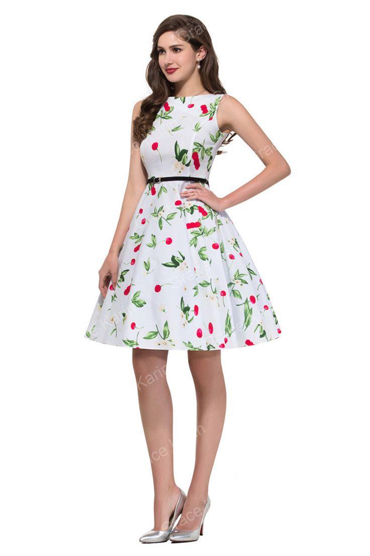 Women Summer Dress 2016 plus size clothing Audrey hepburn Floral robe Retro…