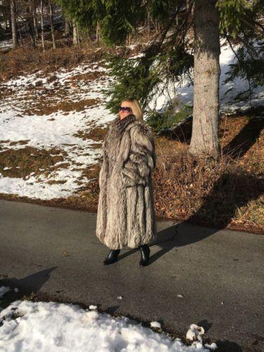 Renard manteau long polaire Fox Fur Coat Blue Fox not Sable or Mink