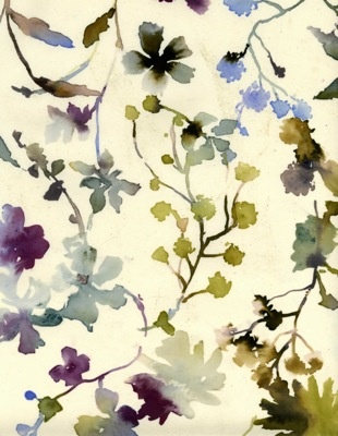 watercolour floral print pattern