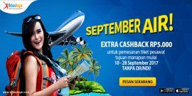 Promo tiket pesawat, dapat Extra Cashback TANPA DIUNDI