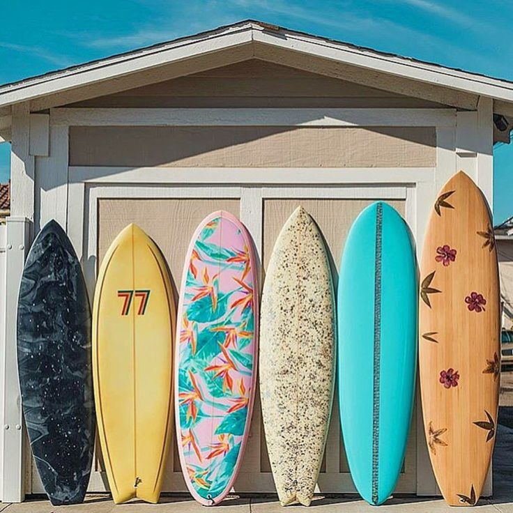 surfboard pierson shapes colorful