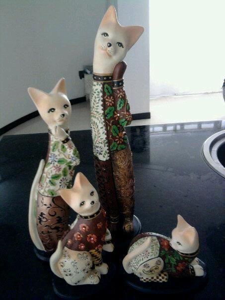 Ceramicas Juego de Gatos