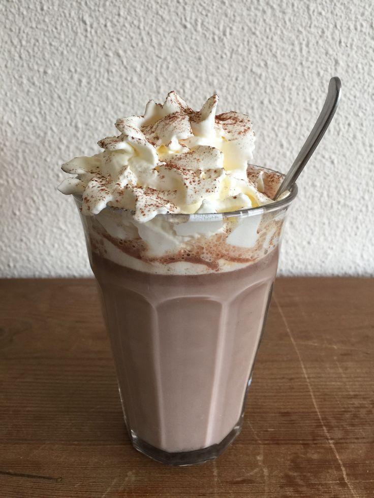 Warme karamel zeezout chocomelk