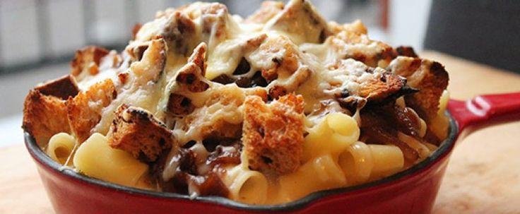 Macaroni hivernal aux oignons caramélisés et au Louis D'or