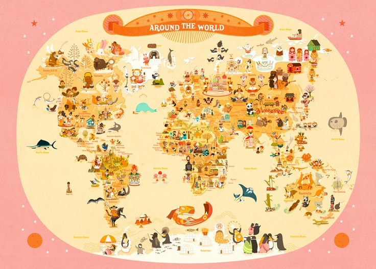 animals of the world map