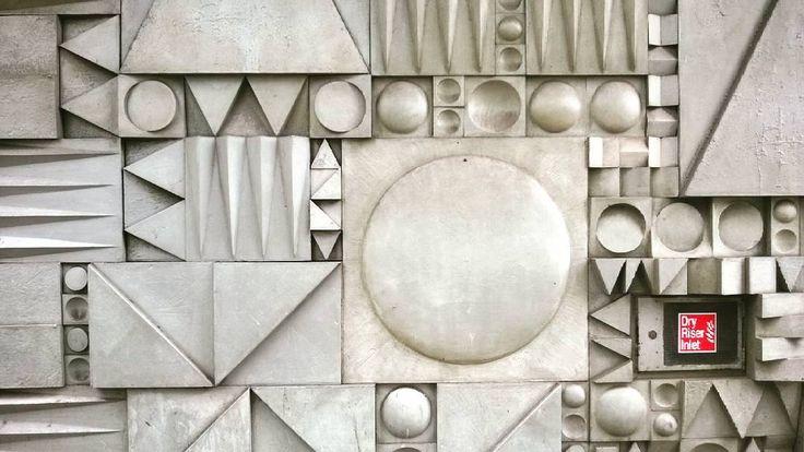 Mid century mural london #midcenturymodern #modernism #brutalist #brutalism #midcentury #london #concrete #tile by cambanthro