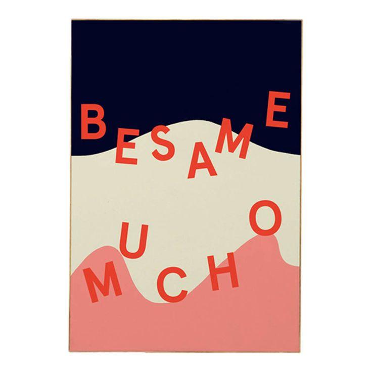 Mathilde Cabanas Besame Poster Multicoloured