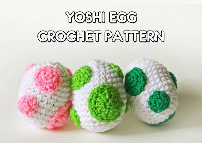 Yoshi Egg Crochet Pattern PDF - Kawaii Crochet, Video Game, Nerdy Amigurumi by Sugarhog on Etsy https://www.etsy.com/listing/212206474/yoshi-egg-crochet-pattern-pdf-kawaii
