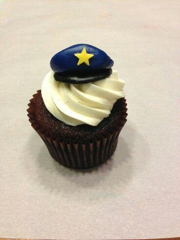 Police cupcake