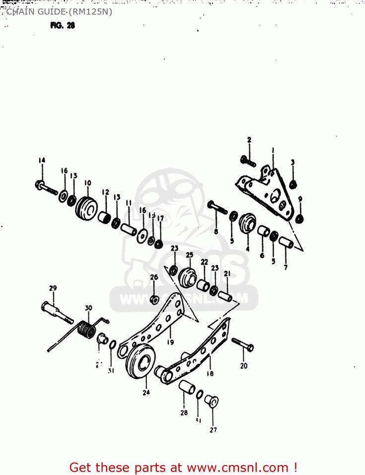 Suzuki Rm125 1980 (t) Usa (e03) Chain Guide (rm125n