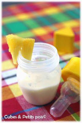 Recette bébé smoothie ananas coco 8 mois