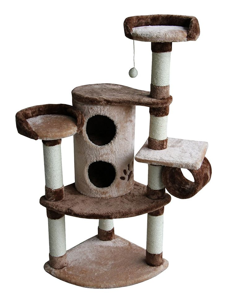 Kitty Mansions Nashville Cat Tree, Beige/Brown -- Remarkable product available now. (This is an amazon affiliate link. I may earn commission from it)