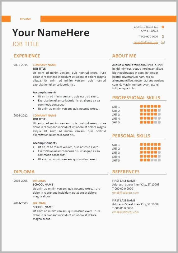 Professional Cvresume Builder Online With Many Templates Resume Design Template Cv Template Resume Template Word
