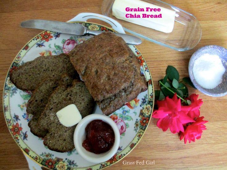 Grain Free Chia Bread (Paleo, Gaps, SCD)