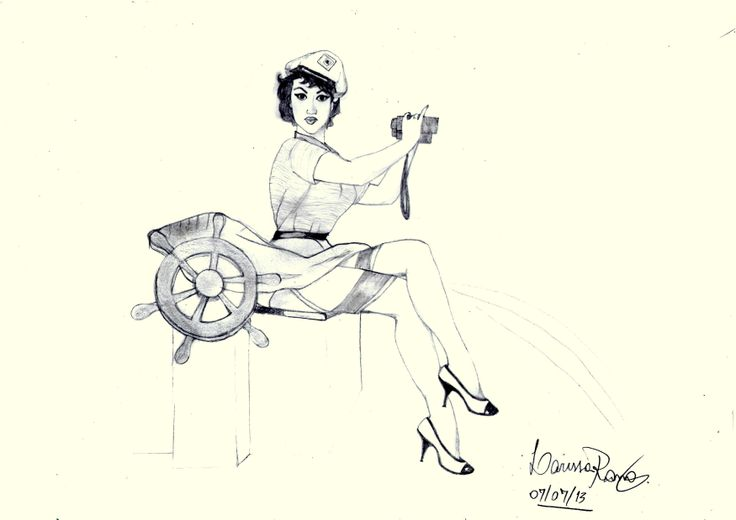 #pinup #navy #draw