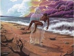 god carried you footprints - Google Search
